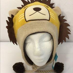 Cozy Critter Caps Beanie Boy's Lion Knit Hat OS
